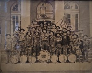 Historic Picture of Boy Scouts at Post Office Marietta, GA