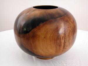 Dark wooden bowl - permanent collection